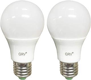Bombilla LED de base GRV E27 no regulable 12-5730 SMD 5 vatios de luz térmica de plástico, equivalente a 45 vatios Ac12 Dc12-24V, blanco fresco Paquete de 2