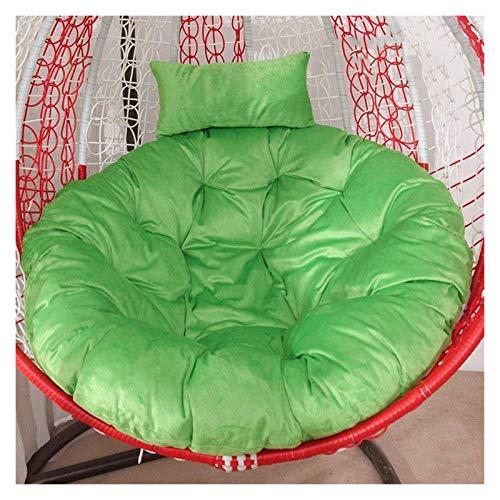 Cojines para exteriores para sillas de patio, colgantes, cojines para sillas con forma de huevo, nido grueso, suave, esponjoso, transpirable, para jardín, cuna, cojines para tumbonas (color: verde)