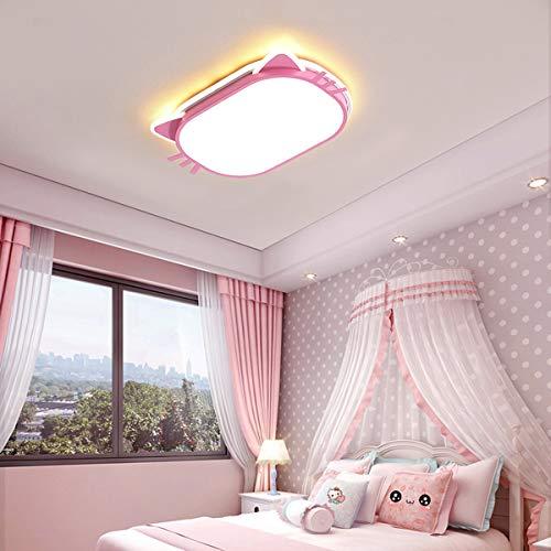 LED-plafondlamp, karikatuur kat kroonluchter voor meisjes slaapkamer babykamer gang pendellamp kleuterschool verlichting deken 55 cm