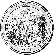 2011 P & D BU Glacier Montana National Park NP Quarter Choice Uncirculated US Mint 2 Coin Set