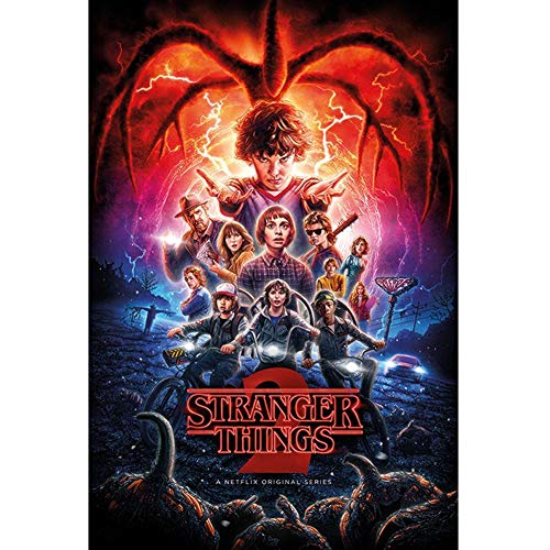 Close Up - Poster Stranger Things, Multicolore, 91.5 x 61 x 0.03 cm, PP34422