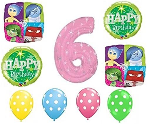 de moda Inside Out Happy 6th Birthday Balloon Decoration Kit by by by Party Supplies  hasta un 60% de descuento