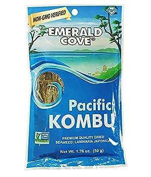 Emerald Cove Silver Grade Pacific Kombu  Dried Seaweed  1.76 Ounce Bag