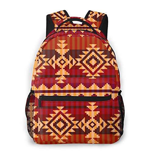 MEJX Mochila Paquete de Almacenamiento,Patrón de estilo navajo,Casual Bolsa de Estudiantes de la Escuela Mochila Portátil de Viaje