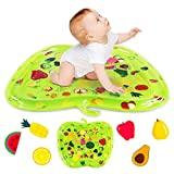 Xhaus Portable Tummy Time Water Mat Inflatable Fruit Shaped Infant Play Mat Brain Development Toy for Babies 3 Months and Up, BPA Free, CPSC Certified