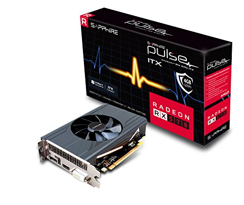 Sapphire 11266-34-20G Radeon Pulse RX 570 ITX 4GB GDDR5 HDMI/ DVI-D/ DP (UEFI) PCI-E Grafikkarte