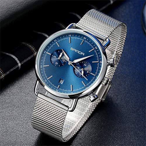 GLEMFOX Stijlvol polshorloge voor mannen, perfect kwartsuurwerk, waterdicht en krasbestendig, analoge chronograaf zakelijke horloges, beste cadeau voor mannen Small #2