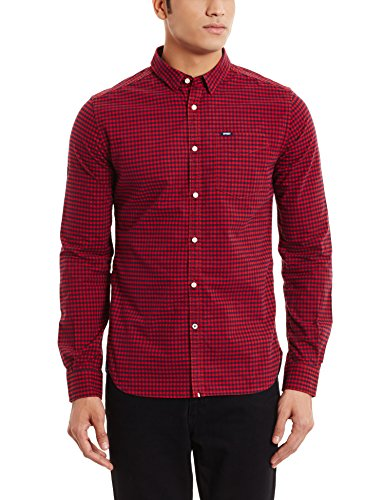 M chemise superdry m40005onf1 rouge