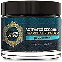 Active Wow Teeth Whitening Charcoal Powder, Peppermint, 20g