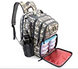 10. 2020 UPGRADED 519 Fitness Meal Prep Backpack Insulated Waterproof-Cooler Lunch Backpack bag Hiking Backpack for Men and Women Cooler Backpack with 6 Leakproof Meal Containers and 2 IcePacks Camouflage