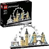 DMDM Arquitectura Skyline Model Building Set, London Eye, Big Ben, Tower Bridge Collection, Idea De Regalo Coleccionable De Construcción