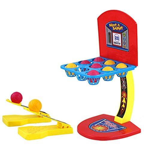 Fansport Tisch Basketball Spiel, Desktop Spielzeug Kunststoff Mini Basketball Office Spielzeug für Erwachsene Kinder