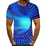 Camisetas 3D de Hombre Código Azul Vortex Canal Camiseta Hombre 3DT Camisa Manga Corta Cuello Redondo impresión Digital Casual Manga Corta-Color_6XL