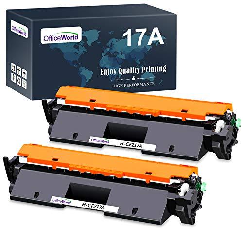 OFFICEWORLD 17A CF217A Reemplazo para HP 17A CF217A Cartucho de Toner Compatible con HP Laserjet Pro M102A M102W, HP Laserjet Pro MFP M130a M130nw M130fn M130fw Impresora (2 Negro)