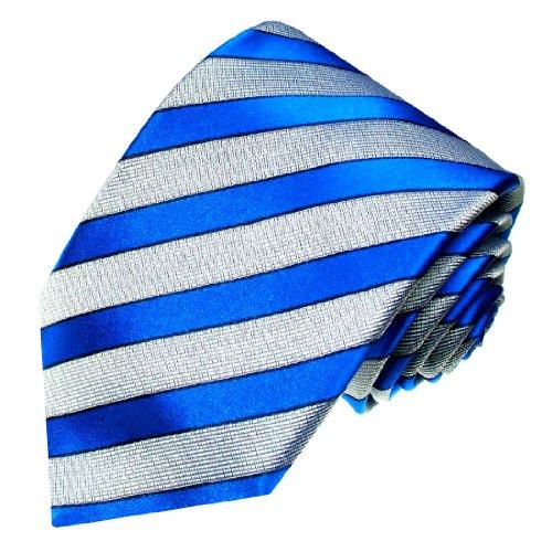 Lorenzo Cana - Marken Krawatte aus 100{f64fefd05ec9bb56447a487c615833e6124123211cbf8f815daeedbbf7920c94} Seide - Blau Streifen Ton in Ton - 84222