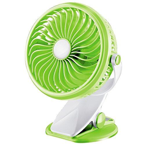 Mini buggy ventilatore ventola di clip di ricarica USB studente ostelli Ventilatore da tavolo, verde