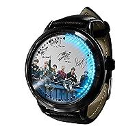 BTS Bangtan ボーイズ Kpop ギフト Led 腕時計防水タッチスクリーンデジタルライト腕時計ユニセックス腕時計誕生日ギフトコレクター版