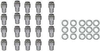 20 Pc Set Chrome Steel Mag Shank Lug Nuts 7/16
