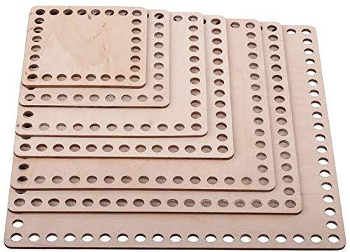 Lagrave Creative Platz Korbböden Set, Korbböden zum Häkeln, Sperrholz Basen für Häkelkorb, 10cm, 15cm und 17cm (Set (10-25cm) 7 Größen)
