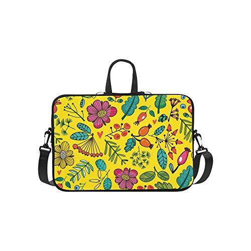 Schöne botanische Pflanzen Blumen Niederlassungen Aktentasche Laptoptasche Messenger Schulter Arbeitstasche Crossbody Handtasche für Geschäftsreisen