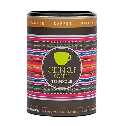 Green Cup Coffee Kaffee Tempixque - Hochlandkaffee aus Guatemala - sortenreine Kaffeebohnen in Premium Qualität - Bohnen Mild mit starken Aromen und feiner Süße - 227g Dose ganze Bohne