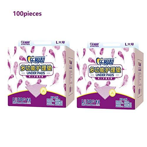 100 stks niet-geweven wegwerp voedingsmat onderlegger bed stoel pad voor moeder, ouderen, baby, postoperatieve patiënten (60x90cm)
