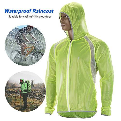 Festnight Waterdichte fietsjas, regenbestendig, voor MTB, fietsen, windjas, racefietsjas, regenjas voor mannen en vrouwen