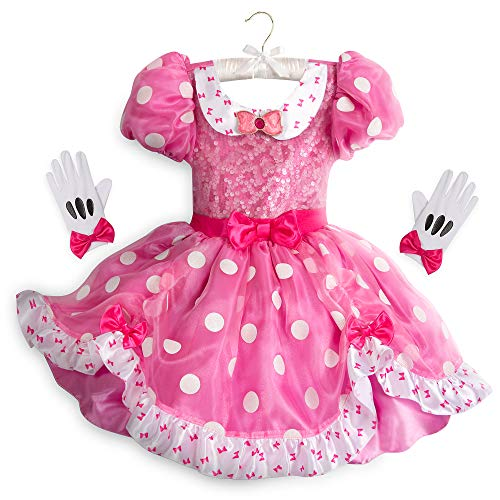 Disney - Disfraz de Minnie Mouse para nios, Color Rosa, Rosado, 4
