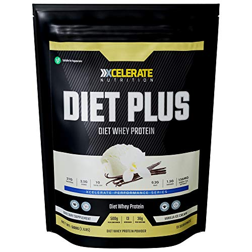 XCelerate Nutrition Diet Shake 500g Powder Shakes for Weight Loss for Women Men Low Calories Sugar Whey Protein Ultralean Lean Meal Replacement Shake (Vanilla)