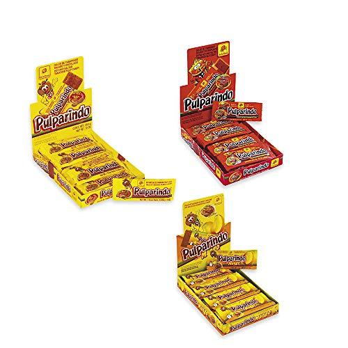 Pulparindo Tamarind Pulp Candy 3-Box Variety Bundle includes Original, Xhot and Mango (60 ct)