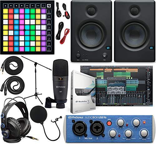 PreSonus AudioBox 96 Audio Interface Full Studio Kit w/Studio One Artist Software...