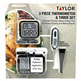 Taylor 3 Piece Thermometer & Timer Set...