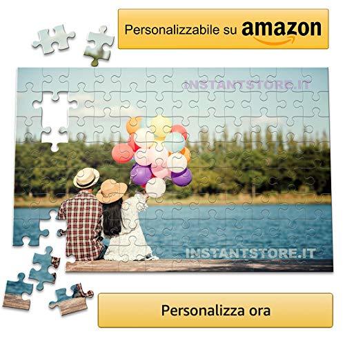 instantstore Puzzle Personalizzato con Foto 192 tasselli Formato A4 - Idea Personalizzabile