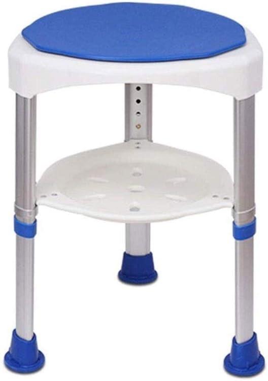 GDBSS Adjustable Height Bath Stool, Bath Chair Non-Slip 360-degr
