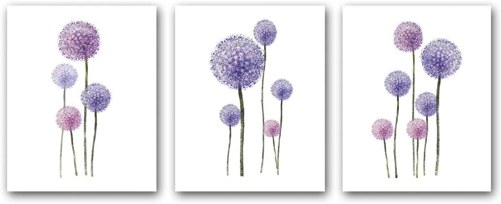 Set of 3 - Dandelion painting print Popularity wall art for picture Ranking TOP13 canvas