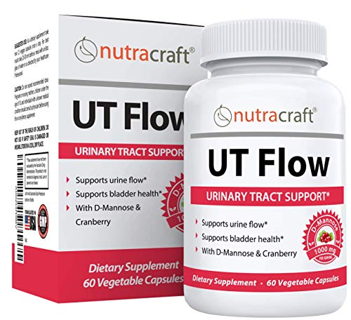 #1 D-Mannose & Cranberry UTI Formula   Urinary Tract Cleanse Supplement to Support Bladder & Kidney Health   Money Back Guarantee   60 Vegetable Capsules