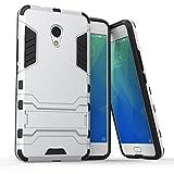 Meizu M5s Hülle, SsHhUu Stoßsichere Dual Layer Hybrid Tasche Schutzhülle mit Ständer für Meizu M5s 2017 (5.2 Zoll) Silver