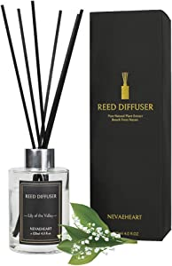 NEVAEHEART Reed Diffuser, Lily of The Valley Scented Reed Diffuser Set, 4.0 oz (120 ml), Oil Diffuser Sticks, Home Fragrance Products, Fragrance Diffuser