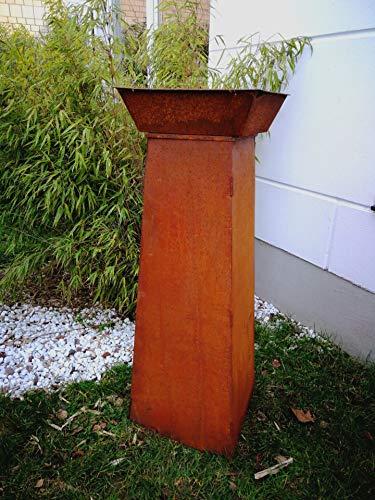 Zen Man 101635 Patina vuurschaal plantenschaal roest 40 cm1 mm met standaard inklapbaar conus H100 * 26 * 40 cm 1,2 mm
