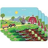 Venilia Country Stampate Bambini Tavola, Tovaglietta per Sala da Pranzo, a Prova di Cibo, 4 Pezzi, 30 x 450 cm, 59112, 30 x 45 cm