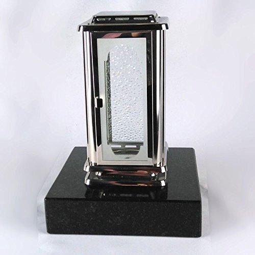 designgrab Grablampe Royal aus Edelstahl mit Sockel aus Granit Schwedisch Black SS1 schwarz