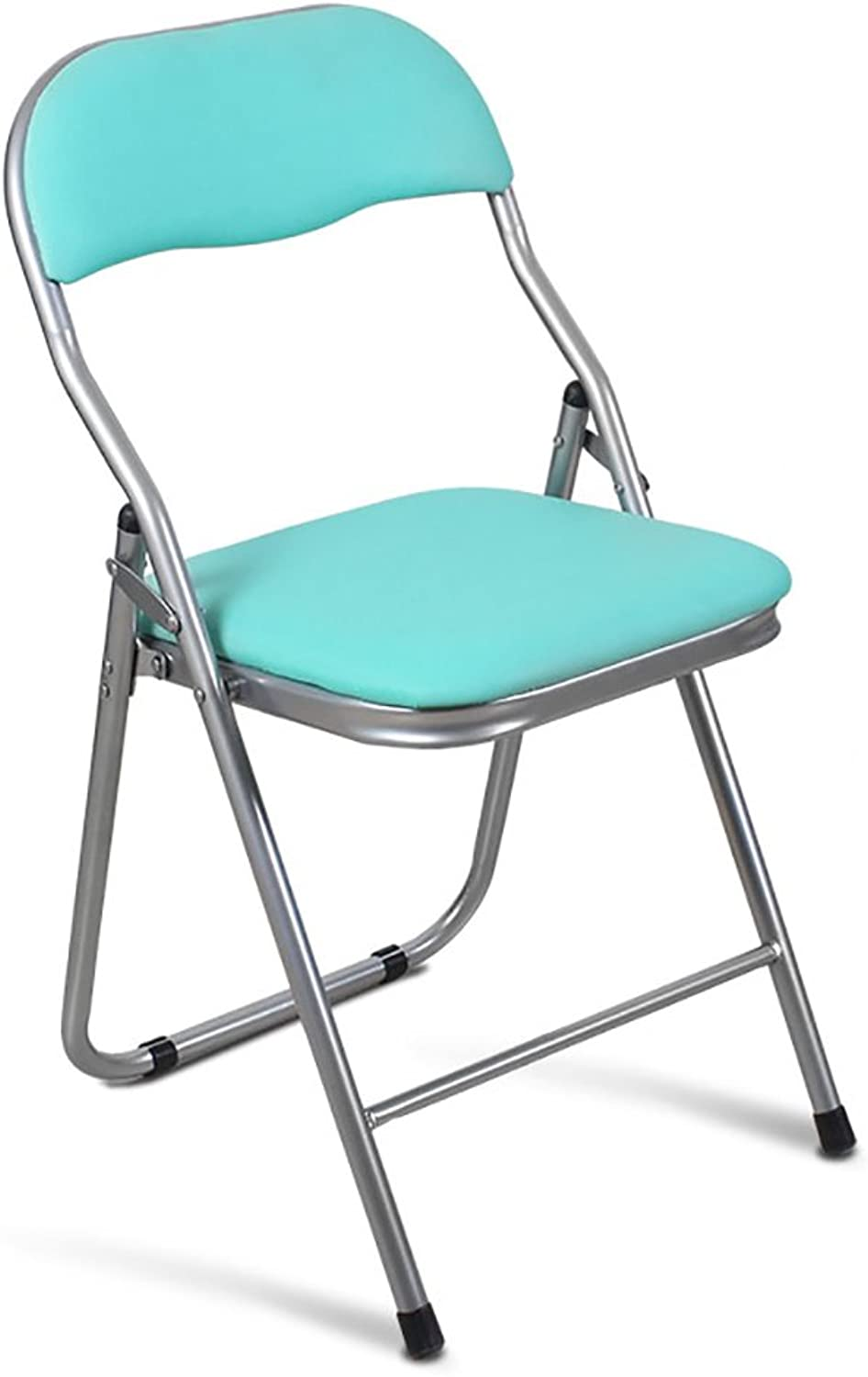 Folding Chair Folding Chairs Office Folding Chairs Conference Training Chairs Simple Computer Chairs Dining Chairs Back Chairs (color   Green)