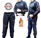 RAD Heavy Duty Sweat Suit Sauna Exercise Gym Suit Fitness, Weight Loss, AntiRip (Red, XL)