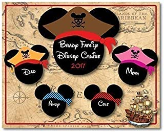 8 x 10 MAGNET SIGN Disney Inspired Pirate Family Disney Cruise Magnet - IMAGES NOT MEANT TO BE CUT OUT