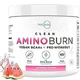 Amino Burn – Vegan BCAA + Pre Workout Powder (6g | Watermelon) Sugar-Free BCAAs Amino Acids &...