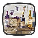 Tiradores cajón cristal 4 piezas perillas gabinete,Bodegón de botellas de vino y uvas. ,para puerta cocina escritorio tocador
