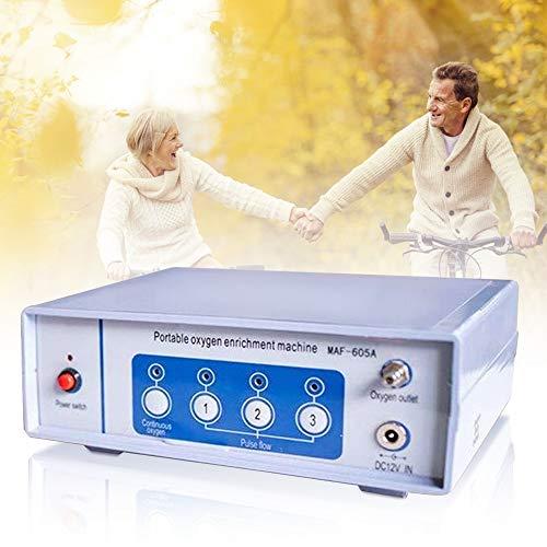 InLoveArts Concentratore di ossigeno, Macchina portatile per ossigeno, flusso continuo e flusso di impulsi regolabile 1-3L / min con batteria al litio da 2200 mAh (2)