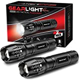 GearLight LED Tactical Flashlight S1000 [2 Pack] - High Lumen, Zoomable, 5 Modes, Water Resistant Light - Camping Accessories, Outdoor...