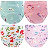 Auranso Baby Potty Training Pants, Toddler Boys Girls Training Pants 4 Pack Cotton