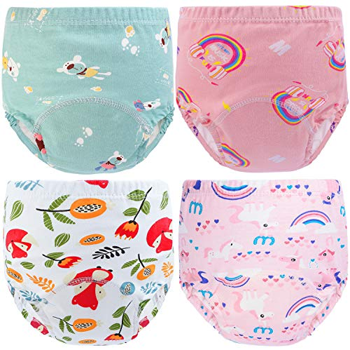 Auranso Baby Potty Training Pants, Toddler Boys Girls Training Pants 4 Pack...